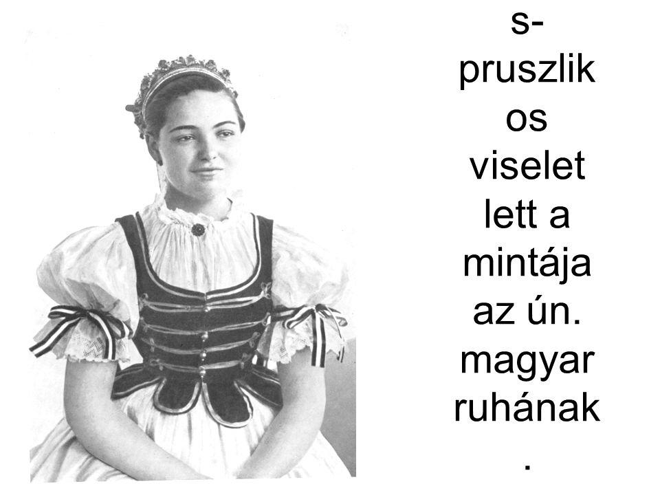 Debrece ni leány. Ez az ingválla s- pruszlik os viselet lett a mintája az ún. magyar ruhának. Fél – Hofer – Csilléry 80. k.