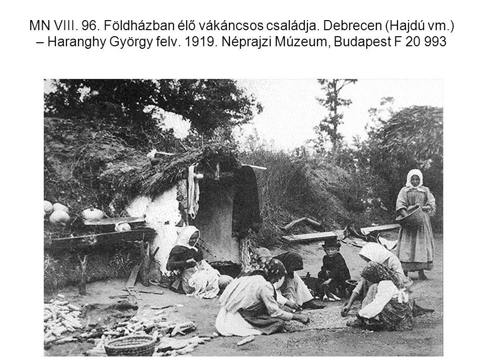 MN VIII. 96. Földházban élő vákáncsos családja. Debrecen (Hajdú vm.) – Haranghy György felv. 1919. Néprajzi Múzeum, Budapest F 20 993