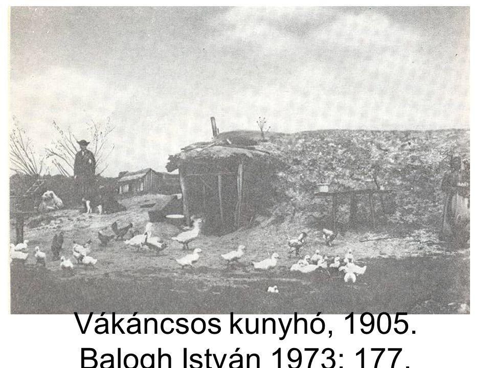 Vákáncsos kunyhó, 1905. Balogh István 1973: 177.