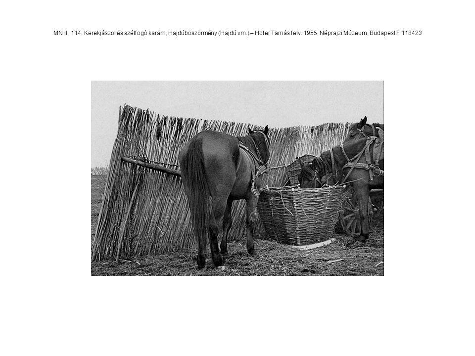 MN II. 114. Kerekjászol és szélfogó karám, Hajdúböszörmény (Hajdú vm.) – Hofer Tamás felv. 1955. Néprajzi Múzeum, Budapest F 118423