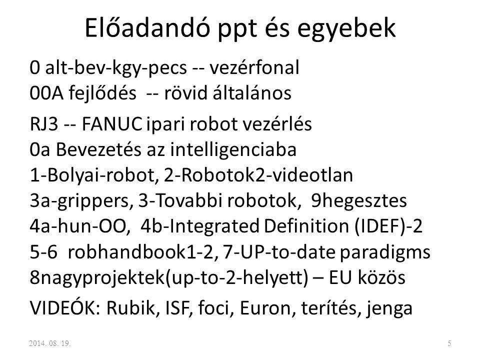 Előadandó ppt és egyebek 0 alt-bev-kgy-pecs -- vezérfonal 00A fejlődés -- rövid általános RJ3 -- FANUC ipari robot vezérlés 0a Bevezetés az intelligen