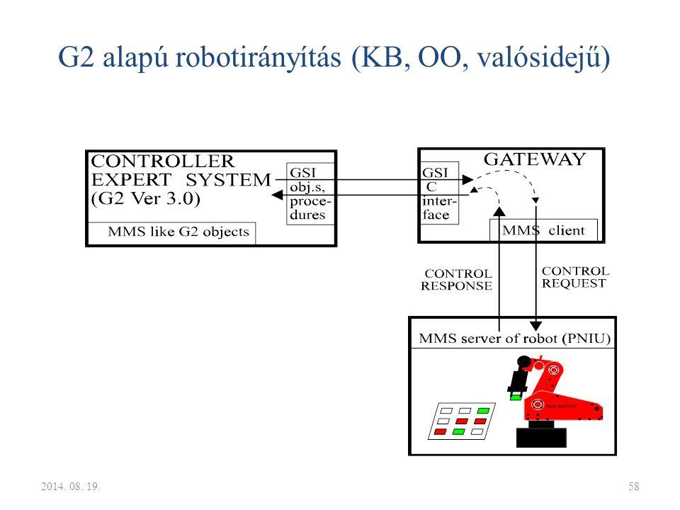 G2 alapú robotirányítás (KB, OO, valósidejű) 2014. 08. 19.58