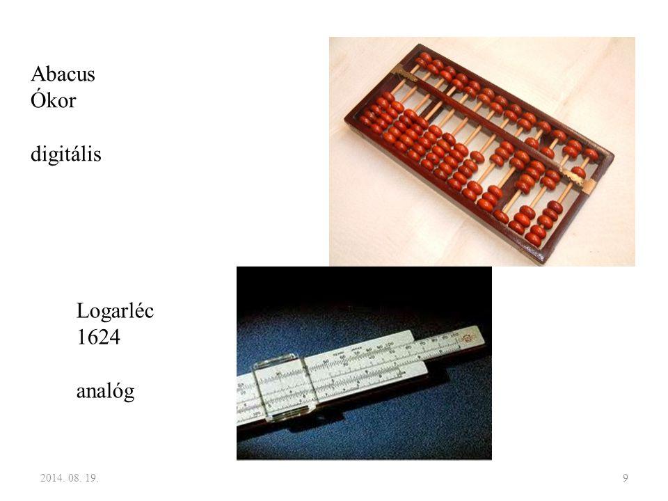 9 Abacus Ókor digitális Logarléc 1624 analóg