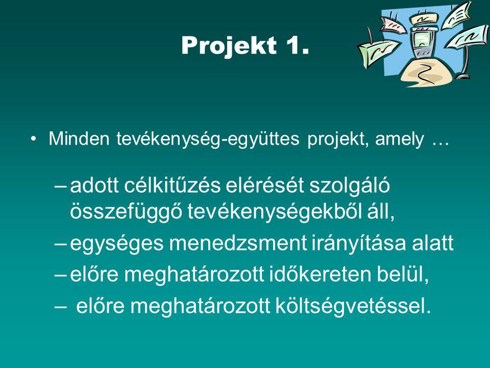 """PROJEKT ÉLETCIKLUS (3-4) 3)Végrehajtási (implementációs) fázis Tervek """"üzembehelyezése Tevékenységek figyelemmel kísérése, irányítása Előrehaladás (periodikus) vizsgálata, szükség szerint reviziója 4)Lezáró (befejező) fázis Projekt komplettálása Átadás Projekt kiértékelése Disszemináció Fenntarthatóság Nyomonkövetési feladatok (`follow-up`)"""