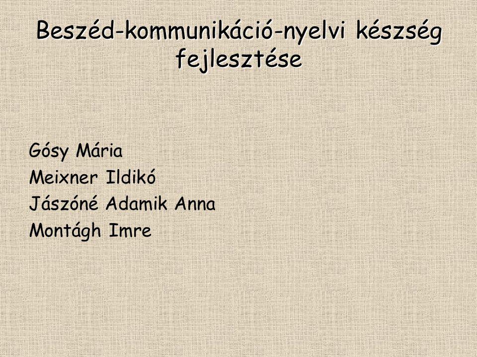 Beszéd-kommunikáció-nyelvi készség fejlesztése Gósy Mária Meixner Ildikó Jászóné Adamik Anna Montágh Imre