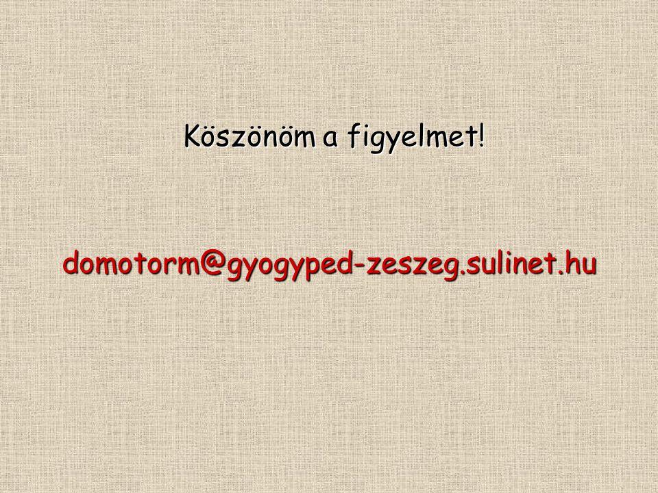 Köszönöm a figyelmet! Köszönöm a figyelmet!domotorm@gyogyped-zeszeg.sulinet.hu