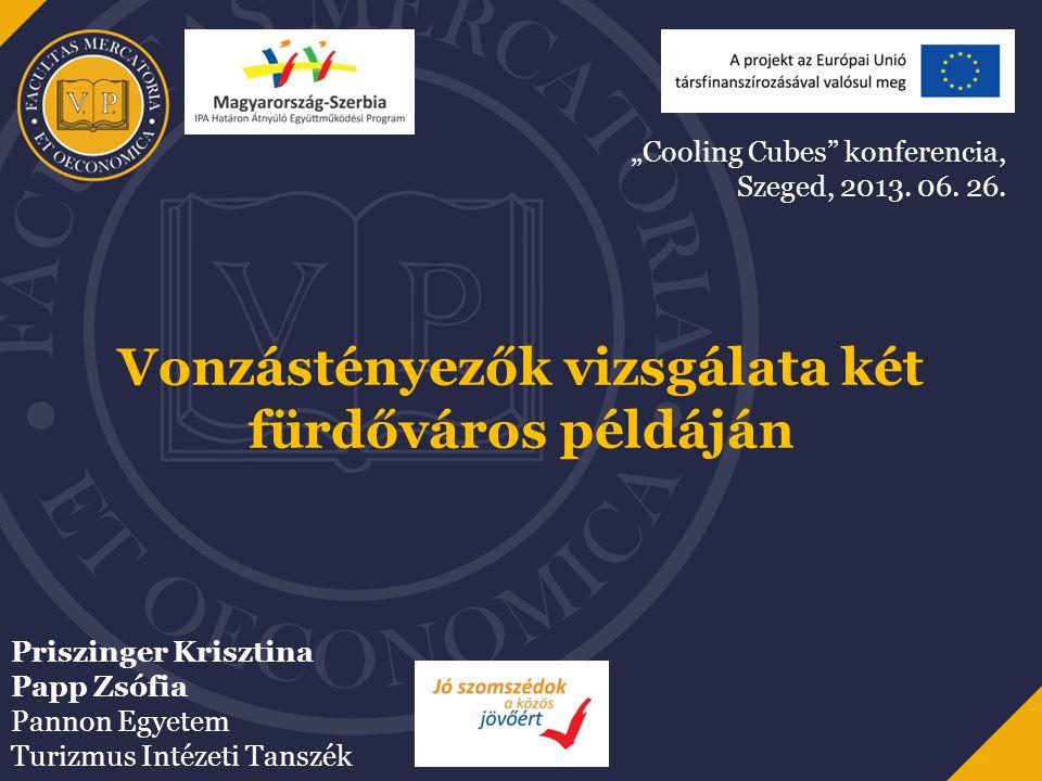 Tartalom A kutatás céljai Gyógyhellyé nyilvánítás Magyarországon Magyar Fürdővárosok Szövetsége Vizsgált vonzástényezők Esztergom és Sárvár, mint fürdővárosok Következtetések További kutatási irányok