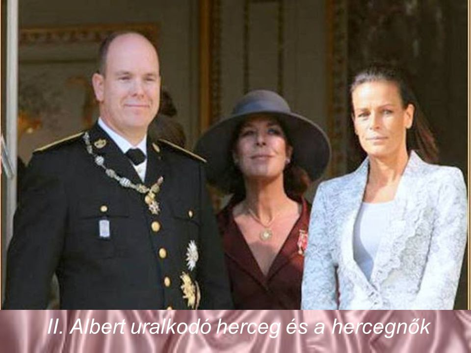 II. Albert uralkodó herceg és a hercegnők