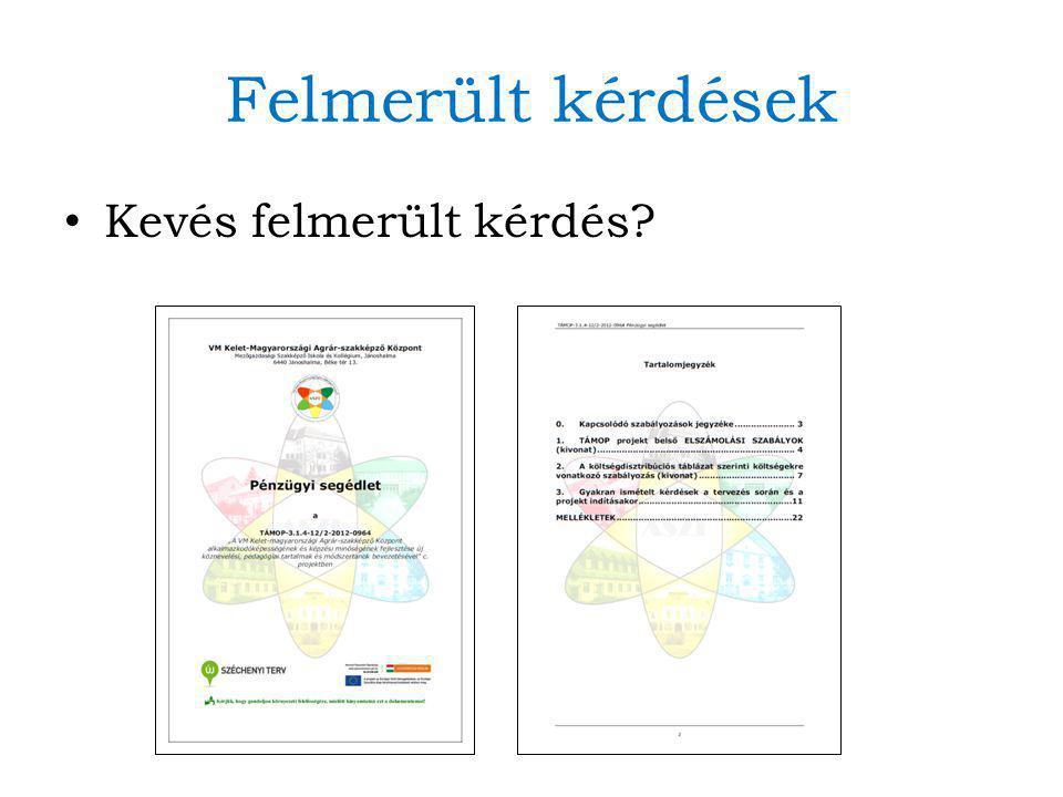 Eljárásrend átismétlése Végleges, kitalált programok Engedélykérelem és mellékletek (pl.