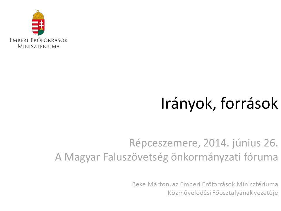 Irányok, források Répceszemere, 2014.június 26.