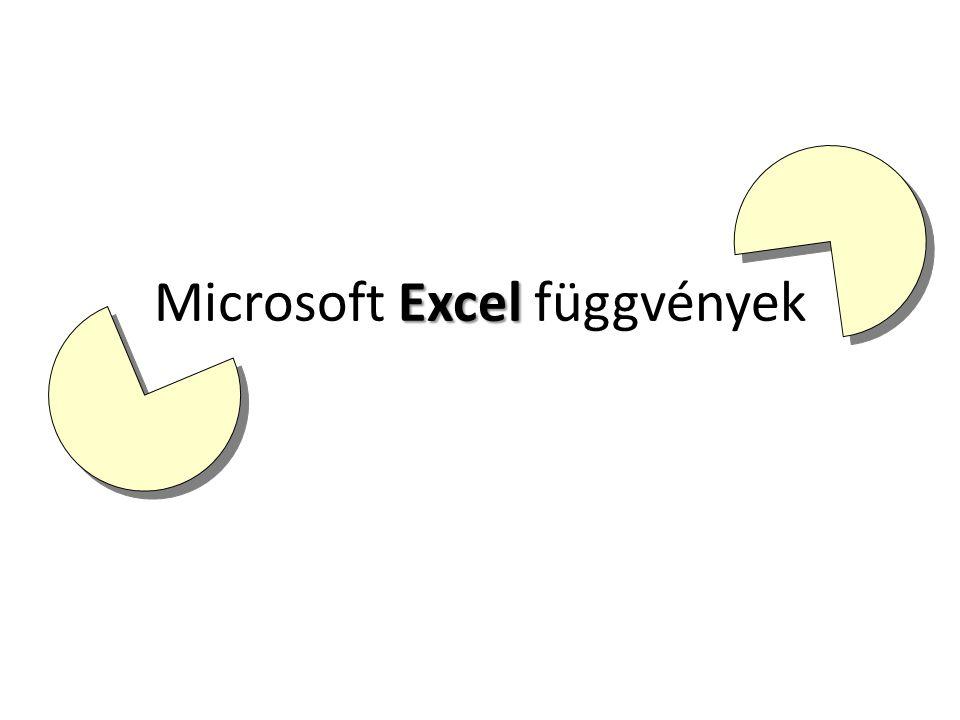 Excel Microsoft Excel függvények