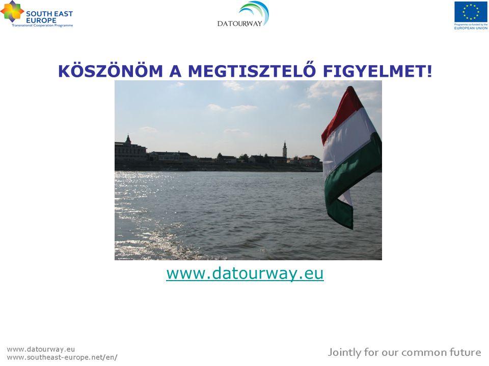 KÖSZÖNÖM A MEGTISZTELŐ FIGYELMET! www.datourway.eu www.datourway.eu
