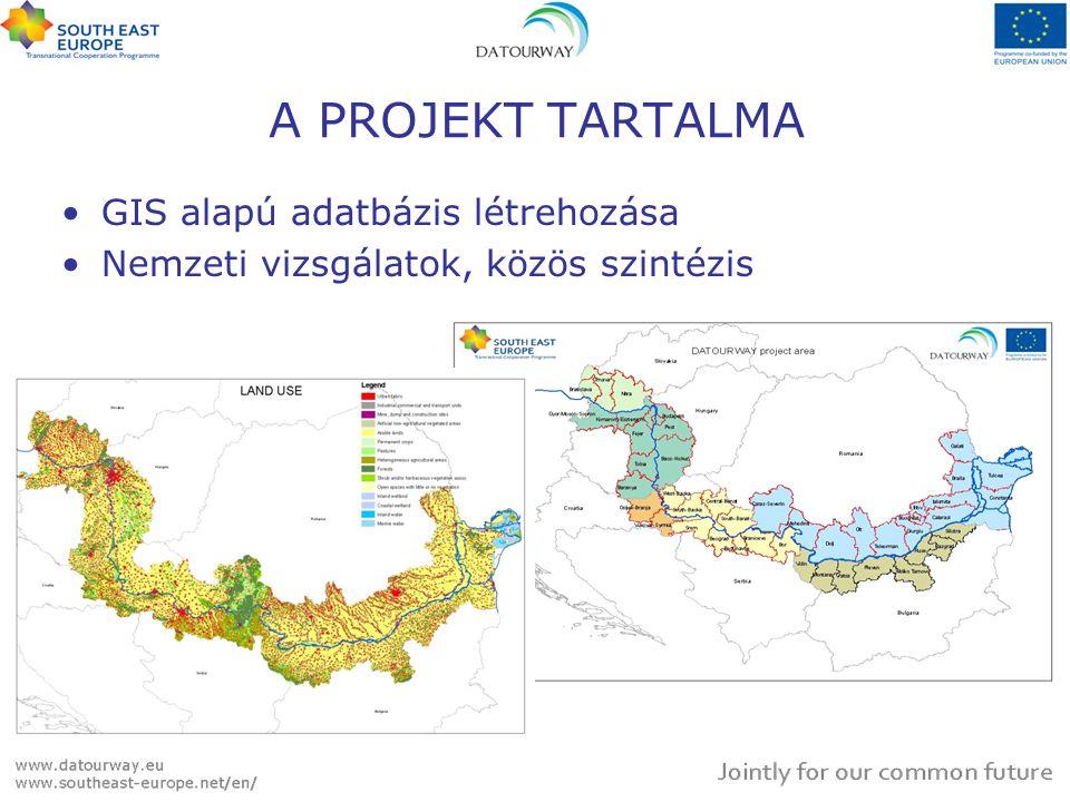 GIS alapú adatbázis létrehozása Nemzeti vizsgálatok, közös szintézis A PROJEKT TARTALMA