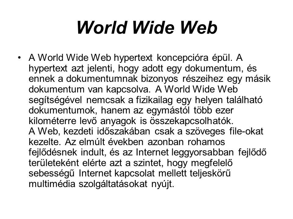 Szöveges elérhetőségek Ezt a fajta megoldást lehetőleg csak azok használják, akik nem tudják grafikus felületről használni a Web-et.