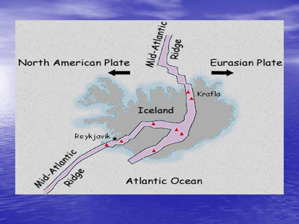 Egy kis geológia: Egy kis geológia: Izland az amerikai és az eurázsiai kőzetlemezek találkozásánál fekszik, ezek a lemezek a tektonikus erők hatására,