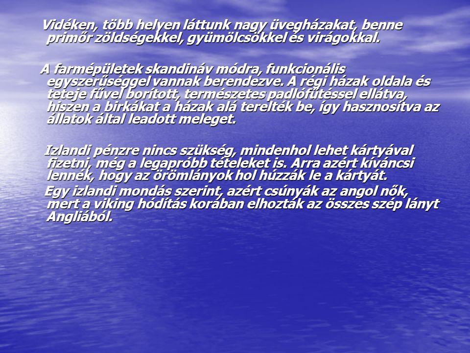 Egyéb érdekességek: Egyéb érdekességek: Izlandon, klasszikus vezetéknevek nincsenek. Az én nevem, mivel a papámat Antalnak hívták: Péter Antalson, a l