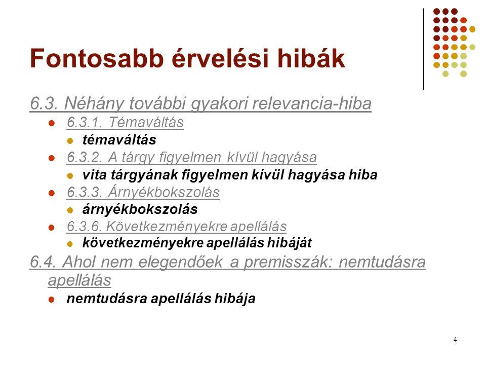 5 Elérhetőségek Online a linkek alatt (http://www.uni- miskolc.hu/~bolantro/informalis/tartalom.html)http://www.uni- miskolc.hu/~bolantro/informalis/tartalom.html Elérhetők a Margitay-könyvben is: Pl.