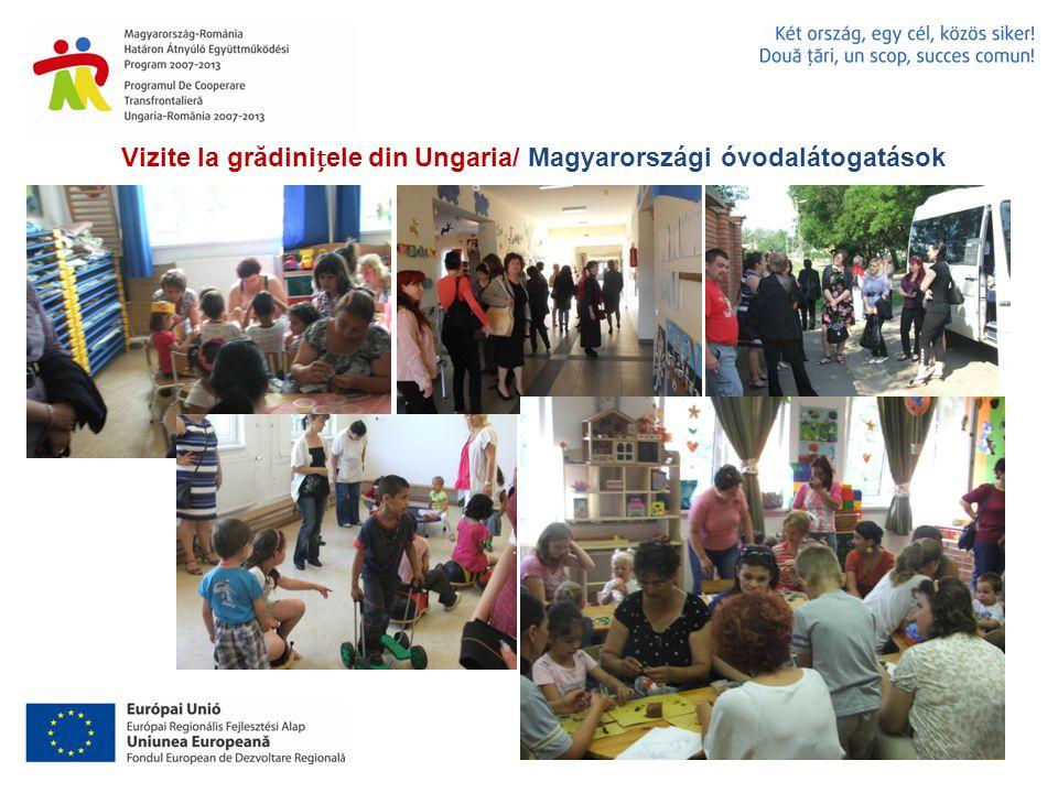 Vizite la grădiniele din Ungaria/ Magyarországi óvodalátogatások