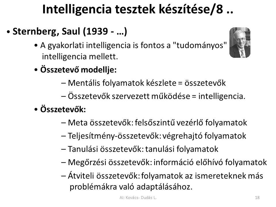 Intelligencia tesztek készítése/8.. Sternberg, Saul (1939 - …) A gyakorlati intelligencia is fontos a
