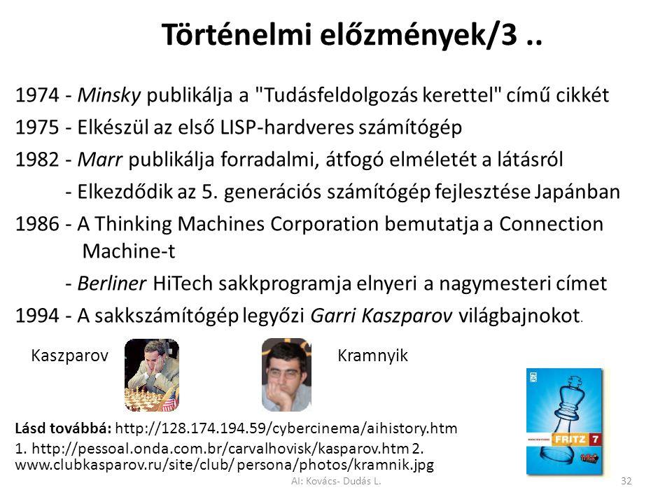 Történelmi előzmények/3.. 1974 - Minsky publikálja a
