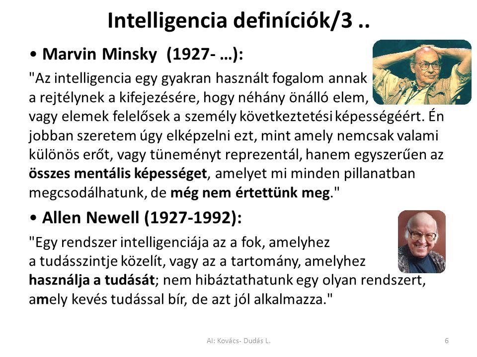Intelligencia definíciók/3.. Marvin Minsky (1927- …):
