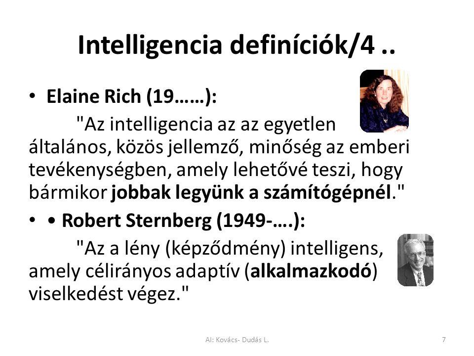 Intelligencia definíciók/4.. Elaine Rich (19……):
