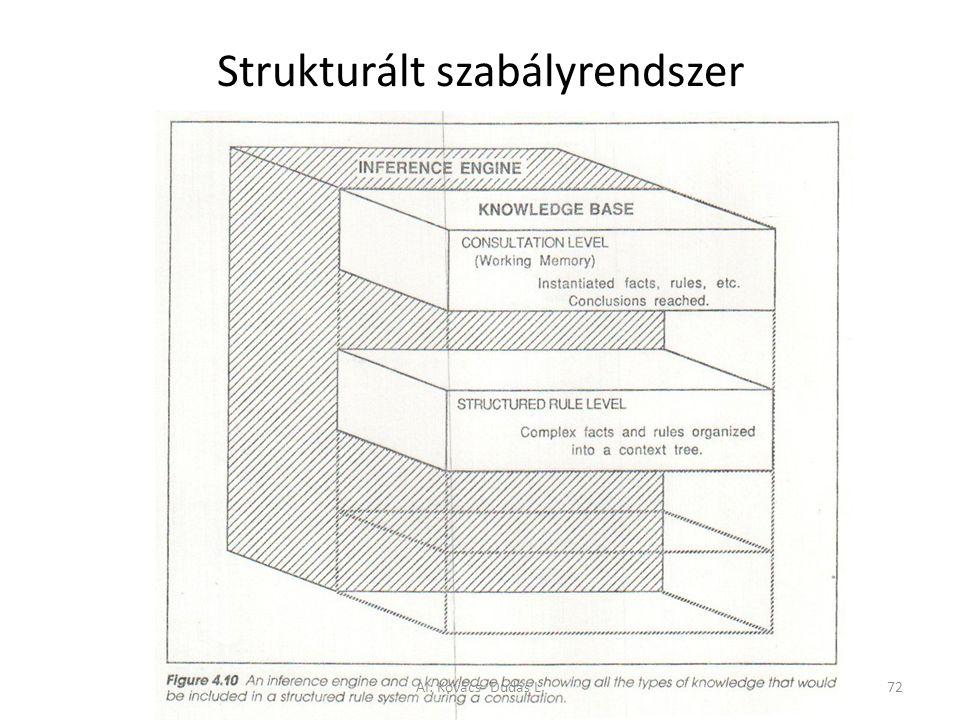 Strukturált szabályrendszer AI: Kovács- Dudás L.72