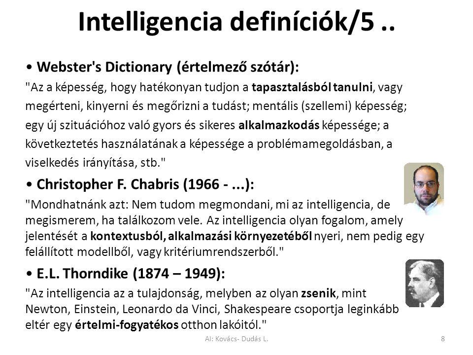 Intelligencia definíciók/5.. Webster's Dictionary (értelmező szótár):