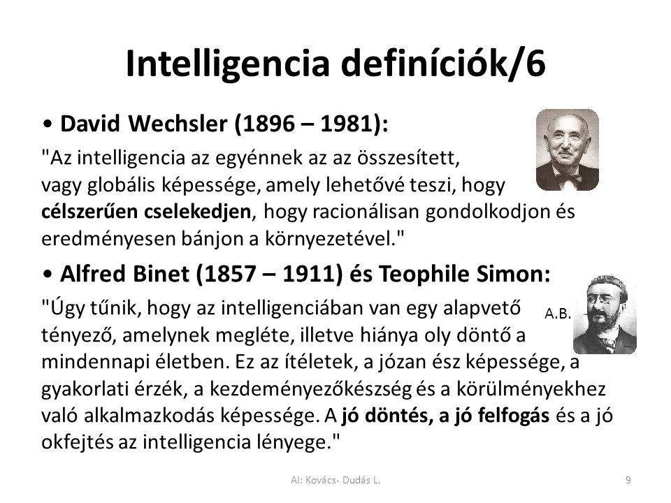 Intelligencia definíciók/6 David Wechsler (1896 – 1981):