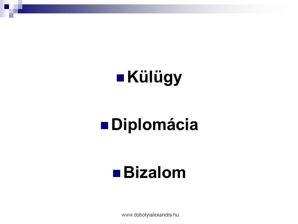 Külügy Diplomácia Bizalom www.dobolyialexandra.hu