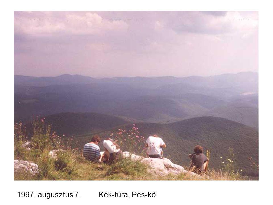 1997. augusztus 7. Kék-túra, Pes-kő