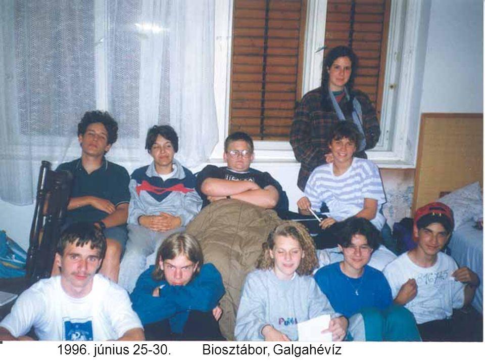 1996. június 25-30.Biosztábor, Galgahévíz