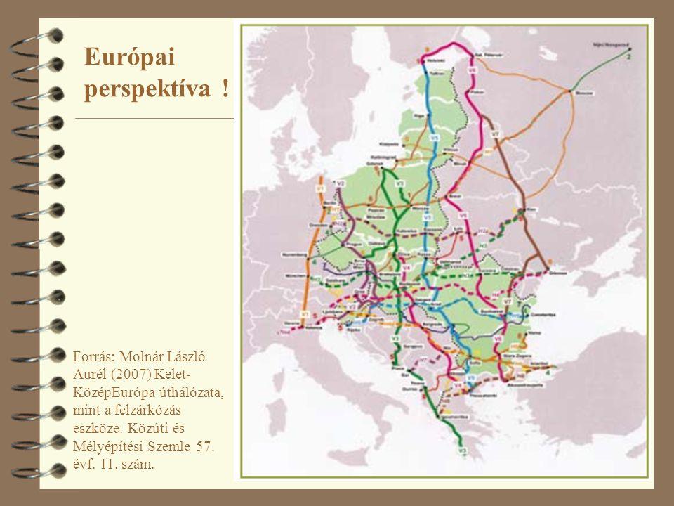 13 Forrás: Molnár László Aurél (2007) Kelet- KözépEurópa úthálózata, mint a felzárkózás eszköze. Közúti és Mélyépítési Szemle 57. évf. 11. szám. Európ