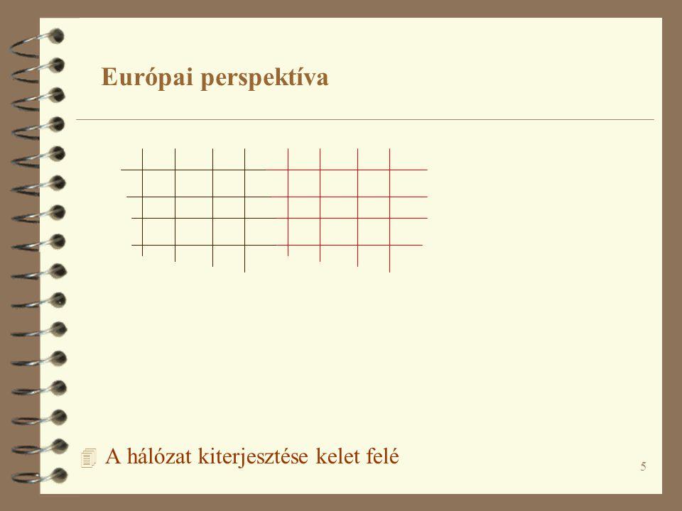 5 4 A hálózat kiterjesztése kelet felé Európai perspektíva