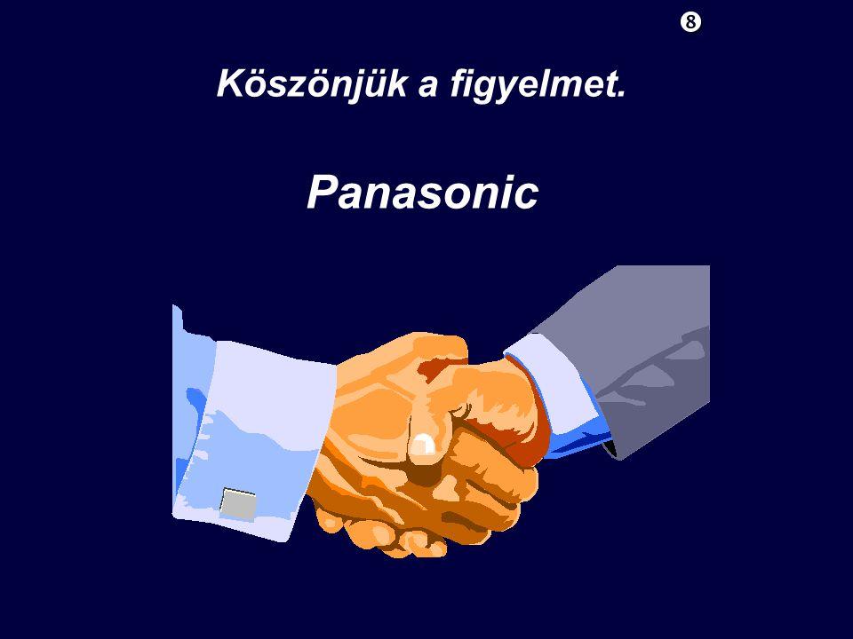 Köszönjük a figyelmet. Panasonic