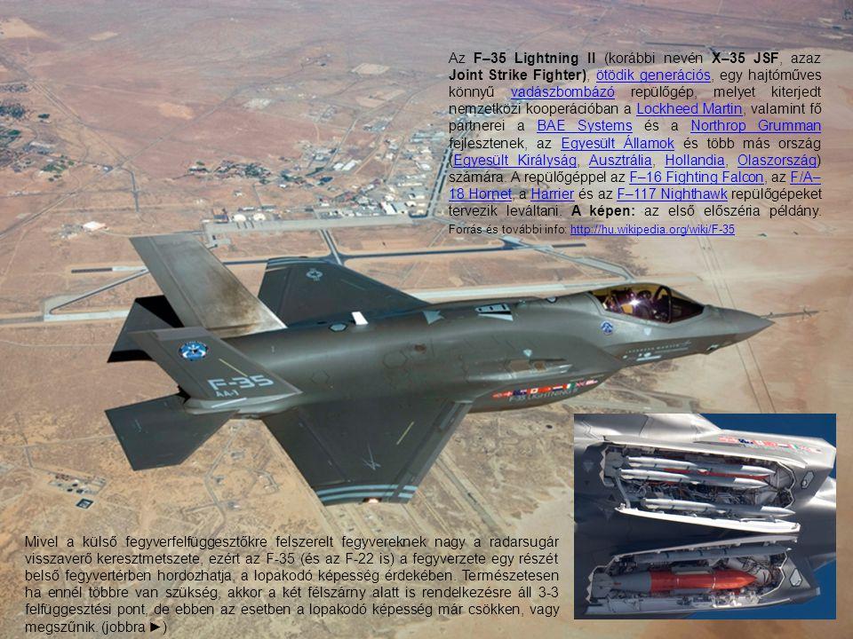 Az F–35 Lightning II (korábbi nevén X–35 JSF, azaz Joint Strike Fighter), ötödik generációs, egy hajtóműves könnyű vadászbombázó repülőgép, melyet kit