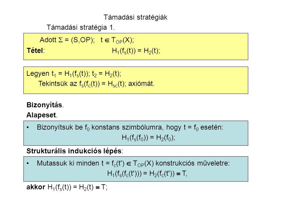 Támadási stratégiák Támadási stratégia 1.