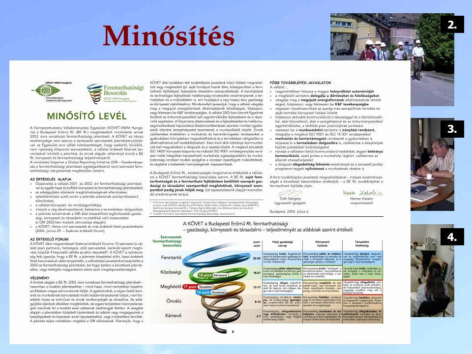 5. szakasz – Minősítő levél és besorolás 4. szakasz – Szakmai értékelő fórum és Értékelő levél - Érintett érdekelt felek bevonása. - Környezeti teljes