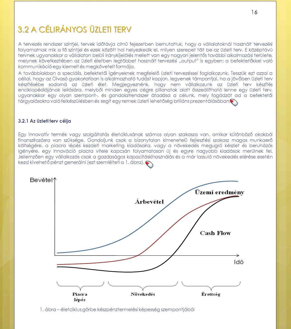 3.2 A CÉLIRÁNYOS ÜZLETI TERV A tervezés rendszer szintjei, tervek időtávja című fejezetben bemutattuk, hogy a vállalatoknál használt tervezési folyama