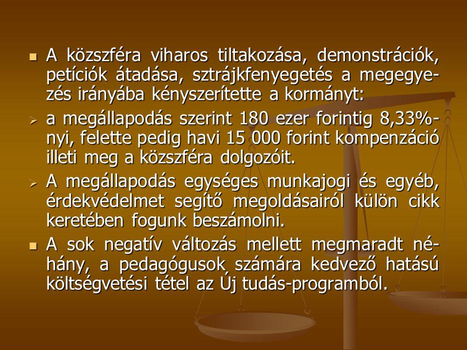 3.Pedagógiai szakszolgálat Előirányzat: 3764,8 millió Ft Fajlagos összeg: 970 000 Ft/fő/év.