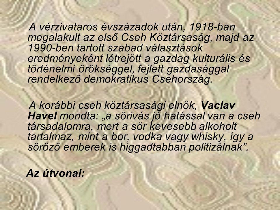 Miért éppen Csehország az úti cél? Vajon a világhírű sörök megkóstolása, vagy fájós tagjaink gyógyítása a népszerű gyógyfürdőkben, vonzza a látogatót?