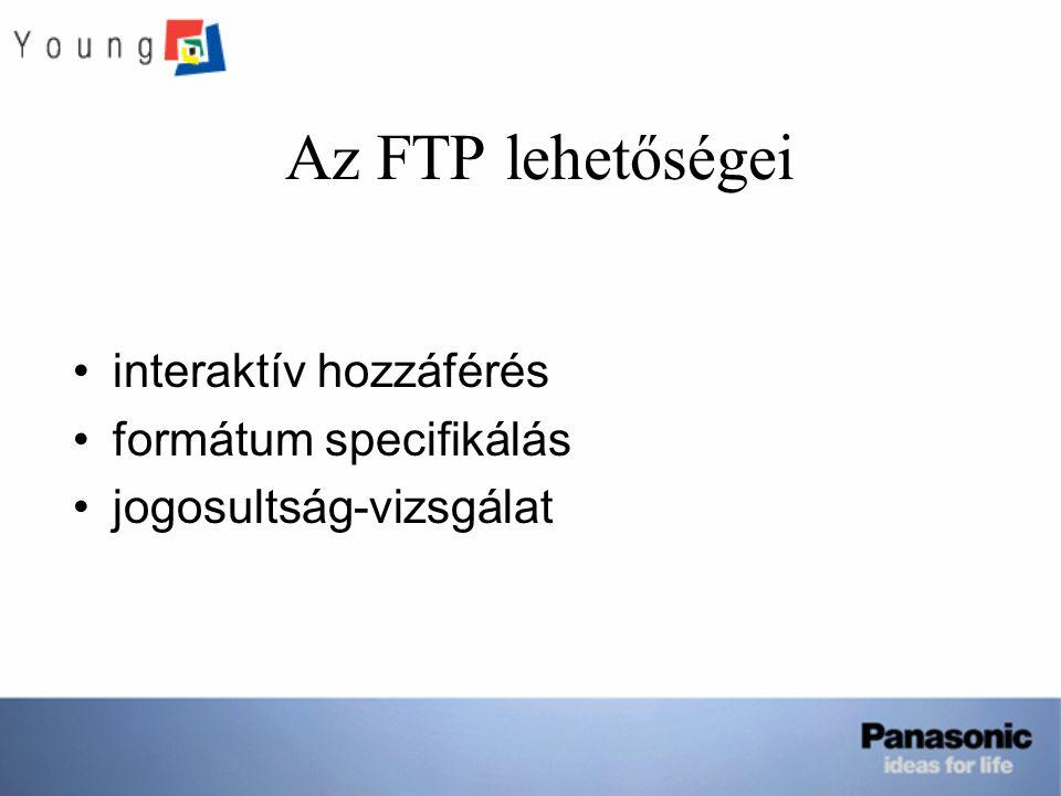 Az FTP lehetőségei interaktív hozzáférés formátum specifikálás jogosultság-vizsgálat