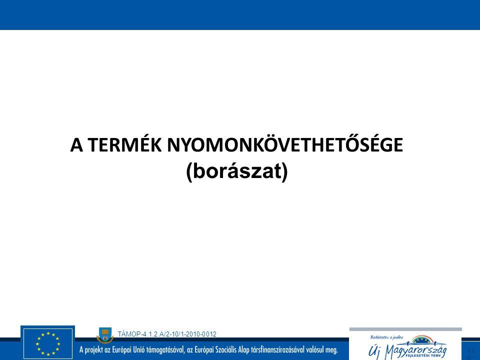 TÁMOP-4.1.2.A/2-10/1-2010-0012 11 9 Átjárhatóság a rendszerek között Minden irányítási és biztosítási rendszer alapja a folyamatok azonosítása és szab