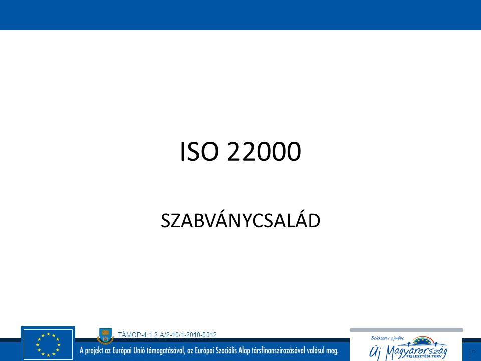 TÁMOP-4.1.2.A/2-10/1-2010-0012 16 0 Az EUREPGAP működésének feltételei Az EUREPGAP rendszer alkalmazásához a vállalkozónak be kell tartania: - az EURE