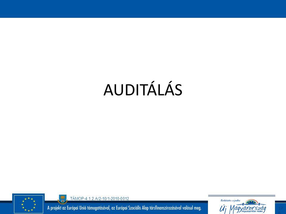 TÁMOP-4.1.2.A/2-10/1-2010-0012 17 5 A rendszerépítés menete A folyamatok meghatározása Szabályzatok elkészítése Engedélyek beszerzése Munkaköri leírás