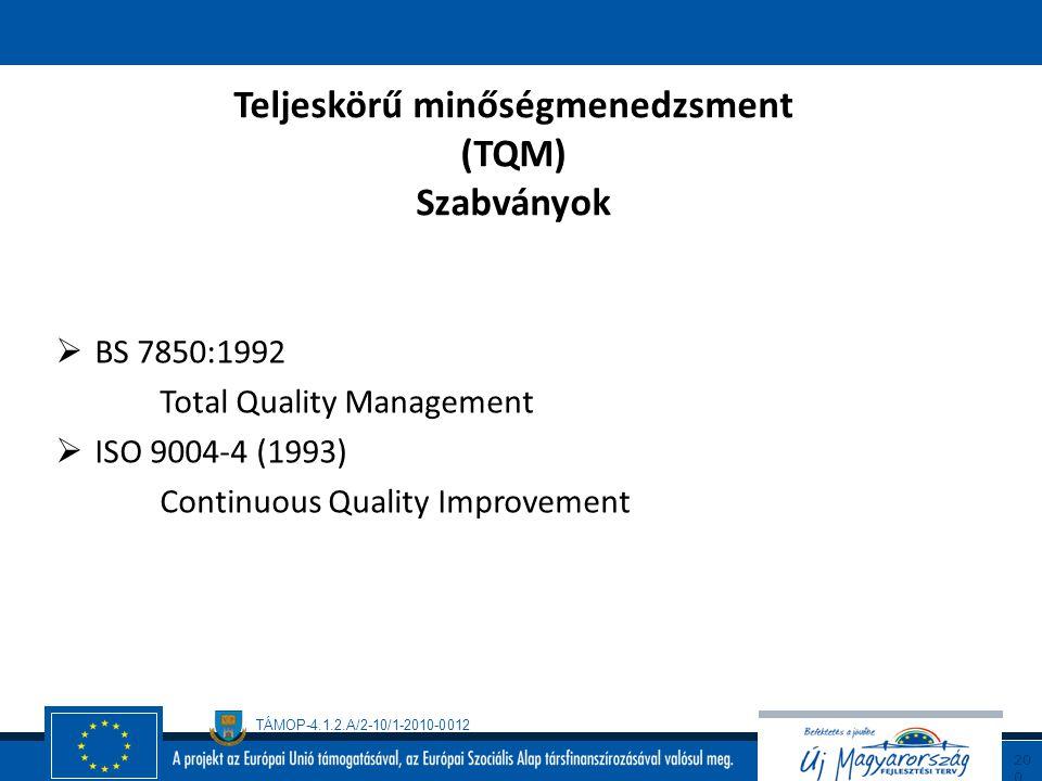 """TÁMOP-4.1.2.A/2-10/1-2010-0012 19 9 Teljeskörű minőségügyi erőfeszítések """"SYSTEM"""" Alp Esin (M&M, 1997, 39-42) Sincereőszinték Yoursmagukénak érezzék S"""