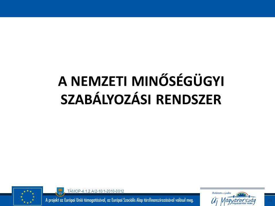 TÁMOP-4.1.2.A/2-10/1-2010-0012 72 A szabvány használata megegyezés alapján  vállalaton belül  piaci szereplők között