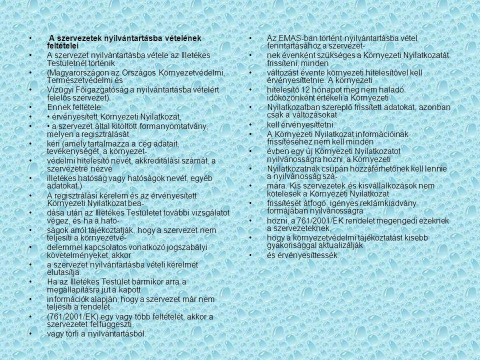 A szervezetek nyilvántartásba vételének feltételei A szervezet nyilvántartásba vétele az Illetékes Testületnél történik (Magyarországon az Országos Kö