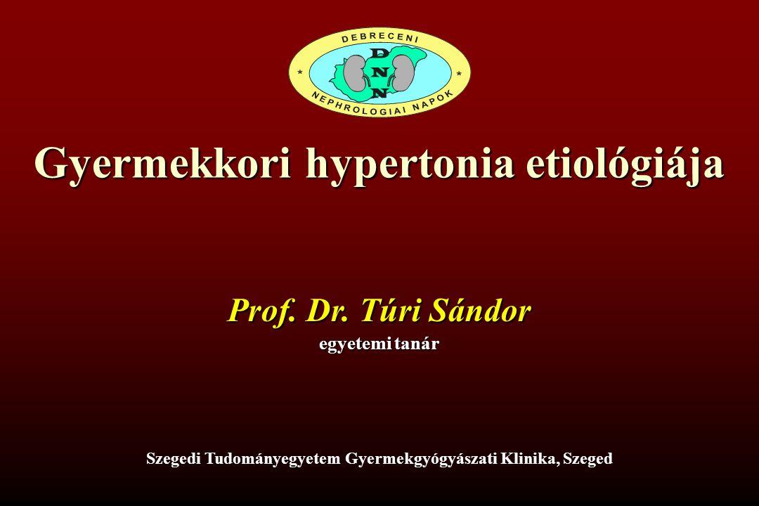 Gyermekkori hypertonia etiológiája Prof.Dr.