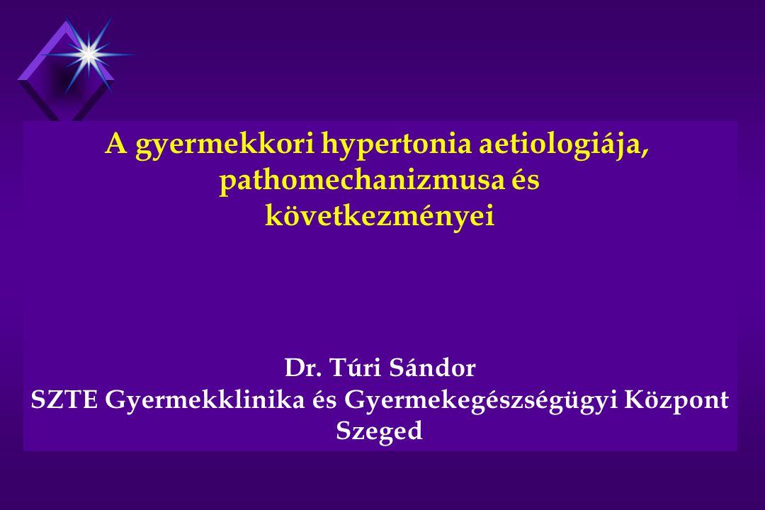 A gyermekkori hypertonia aetiologiája, pathomechanizmusa és következményei Dr.
